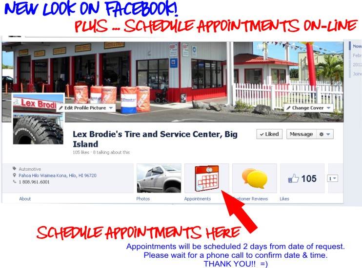 NOW MAKE SERVICE APPOINTMENTS ON-LINE!