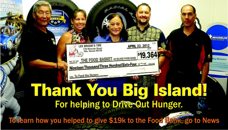 $19, 000 Donated to the Food Basket-Thanks to You!